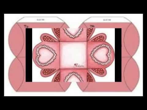 Cajitas para San Valentin con plantilla - YouTube