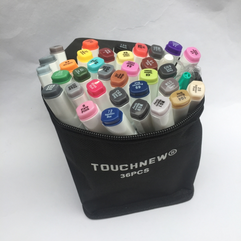 16.11$  Watch here - http://alit26.shopchina.info/go.php?t=32794864293 - Free shipping six generations Mark pen double-headed alcohol oil professional painting 30 36 48 color copic markers manga draw 16.11$ #bestbuy