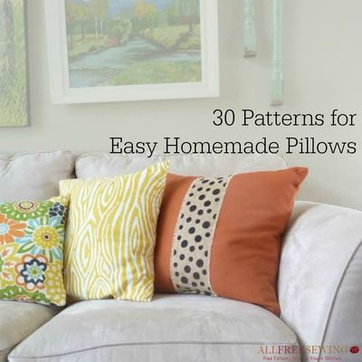 40 Decorative Pillow Patterns Sewing Pinterest Sewing Inspiration Homemade Decorative Pillows