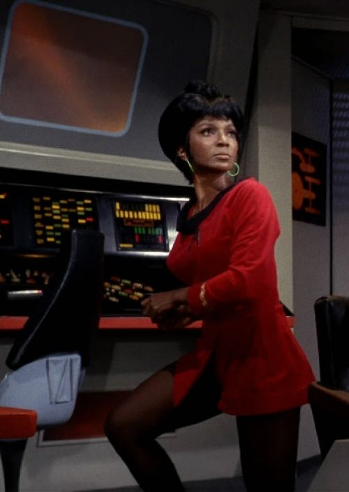 Uhura-One of the few women portraying a professional woman on TV when I was a kid