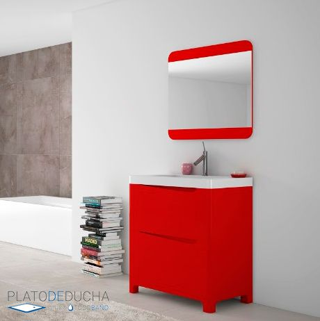 Mueble de baño compacto Bonua. Disponible en 60, 80 y 100 ...