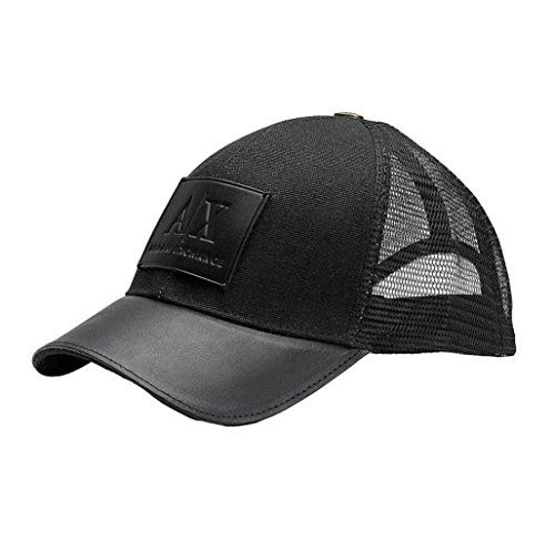 AX Armani Exchange Armani Exchange Brand New with Tags Leather Patch  Baseball Hat 832d508a43f