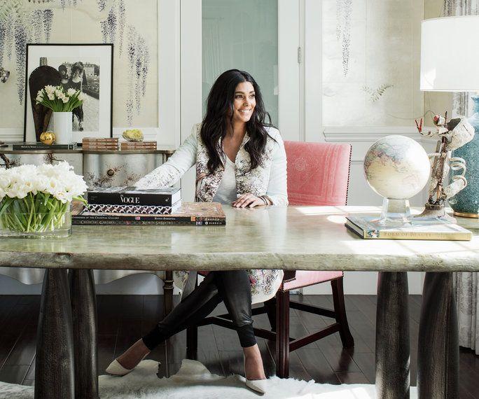 Stylish Home Accessories: Peek Inside Designer Rachel Roy's Luminous Home Office