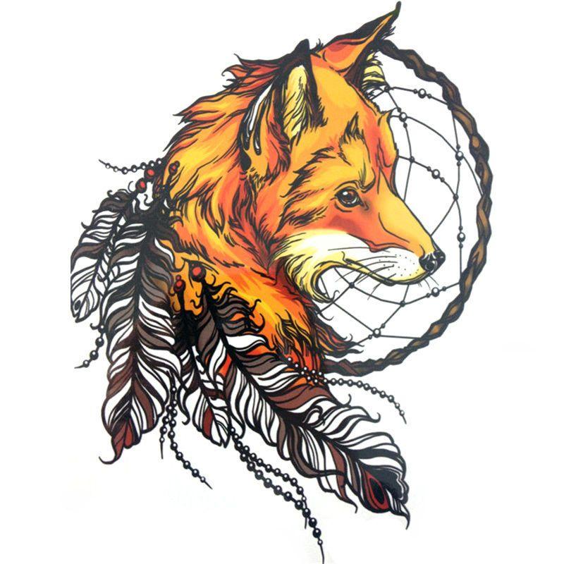 Dream catcher fox kunst ideen kunst tattoos aquarell fuchs