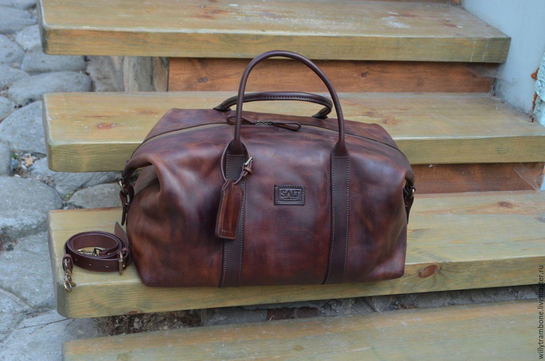 3eb015f28fa5 Мужские сумки ручной работы. Дорожная сумка: коричневая. Мастерская Глеба  Борисова. Ярмарка Мастеров. Дорожная сумка