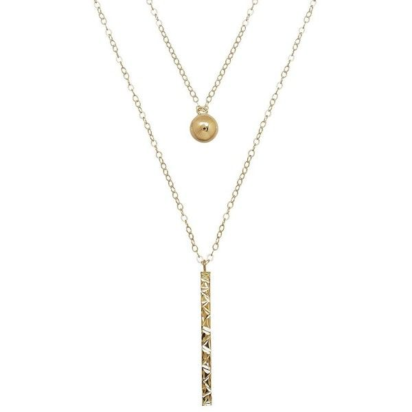 Everlasting Gold 10k Gold Ball Stick Layered Necklace 123 Liked On Polyvore Featuring Jewelry Necklaces Layered Necklaces Chain Pendants Gold Pendant