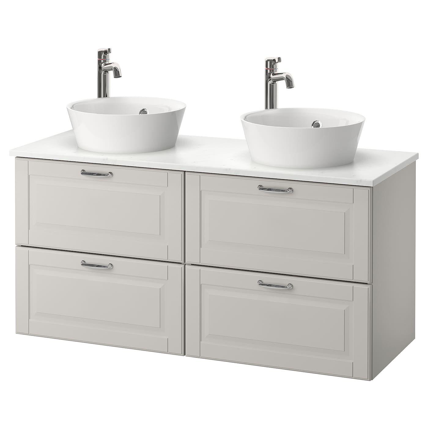 Godmorgon Tolken Kattevik Bathroom Vanity Kasjon Light Gray