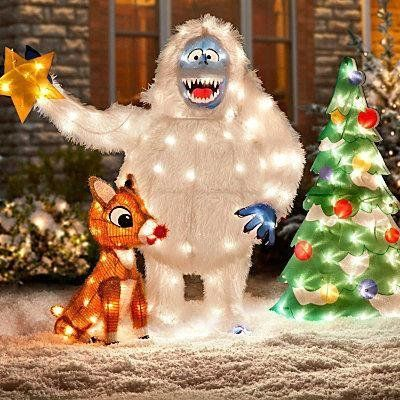 rudolph and snowman | Holidays | Pinterest | Christmas yard, Outdoor ...