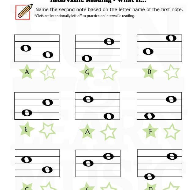 what if interval worksheet music class printables pinterest. Black Bedroom Furniture Sets. Home Design Ideas