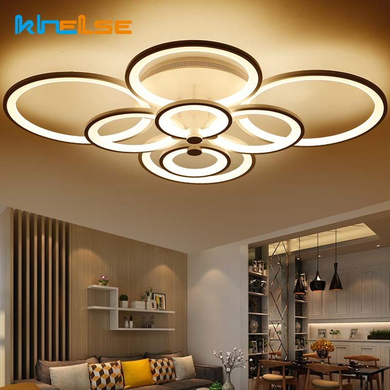 New Remote Control Living Room Bedroom Modern Led Ceiling Lights Luminarias Para Sala Dimming