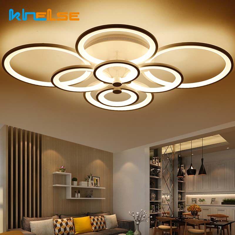 New Remote Control Living Room Bedroom Modern Led Ceiling Lights