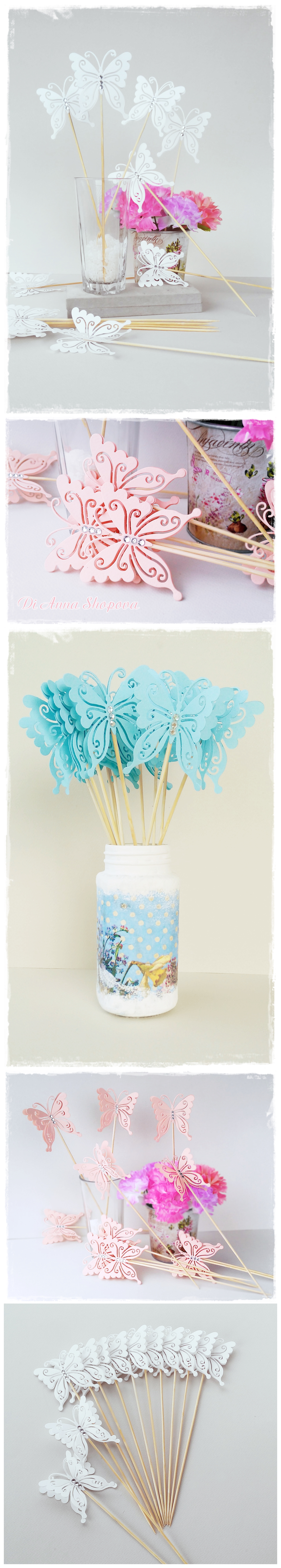 Butterfly Sticks - Table Decorations - Party Decorations - Wedding ...