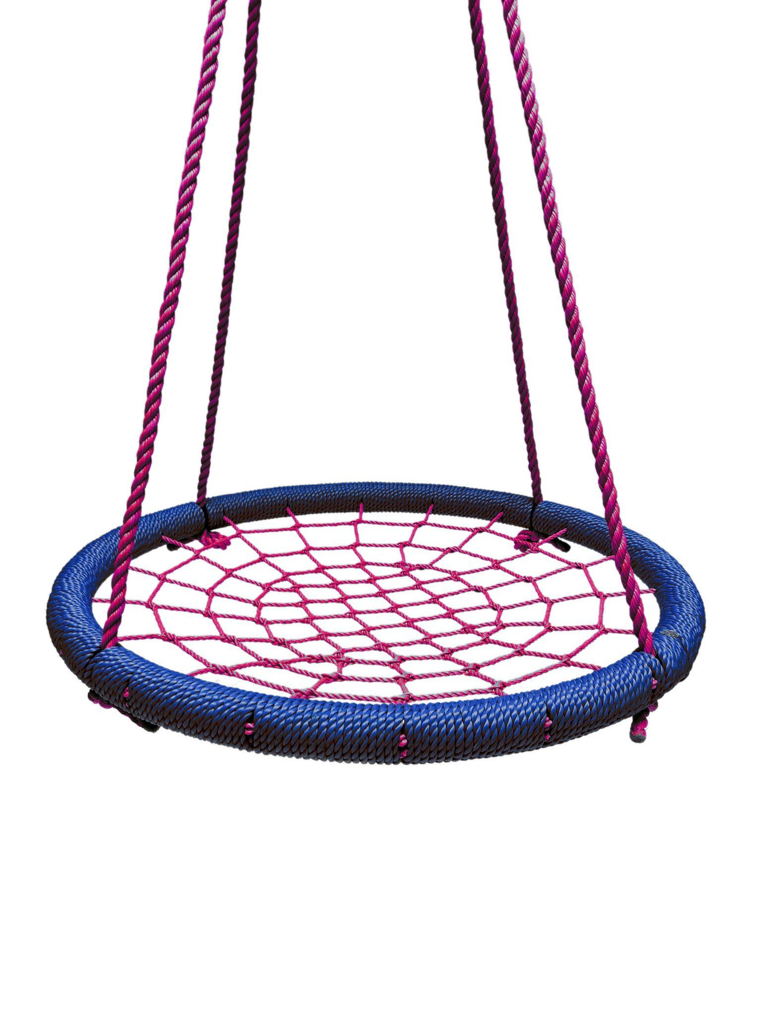 """40"""" Large Round Tree Swing Nets - Navy Blue and Pink-NS-100-NAVPNK STAFF PICK! The Tree Swing is one of our hottest products right now! Multiple color options available! These beautiful, round swing n"""