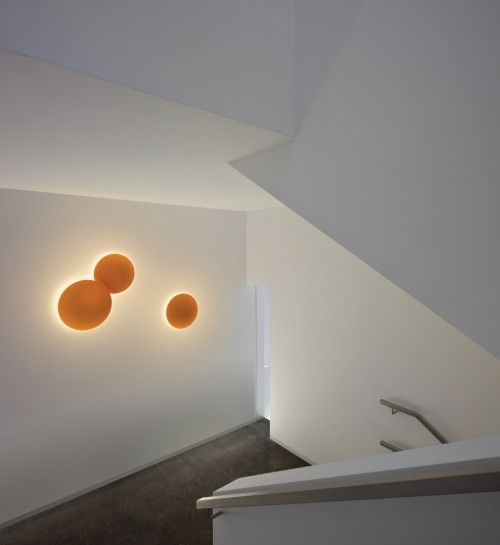 Vibia Puck Wall Art 5461 Orange Wall Lights Wall Lighting Design Wall Lamp