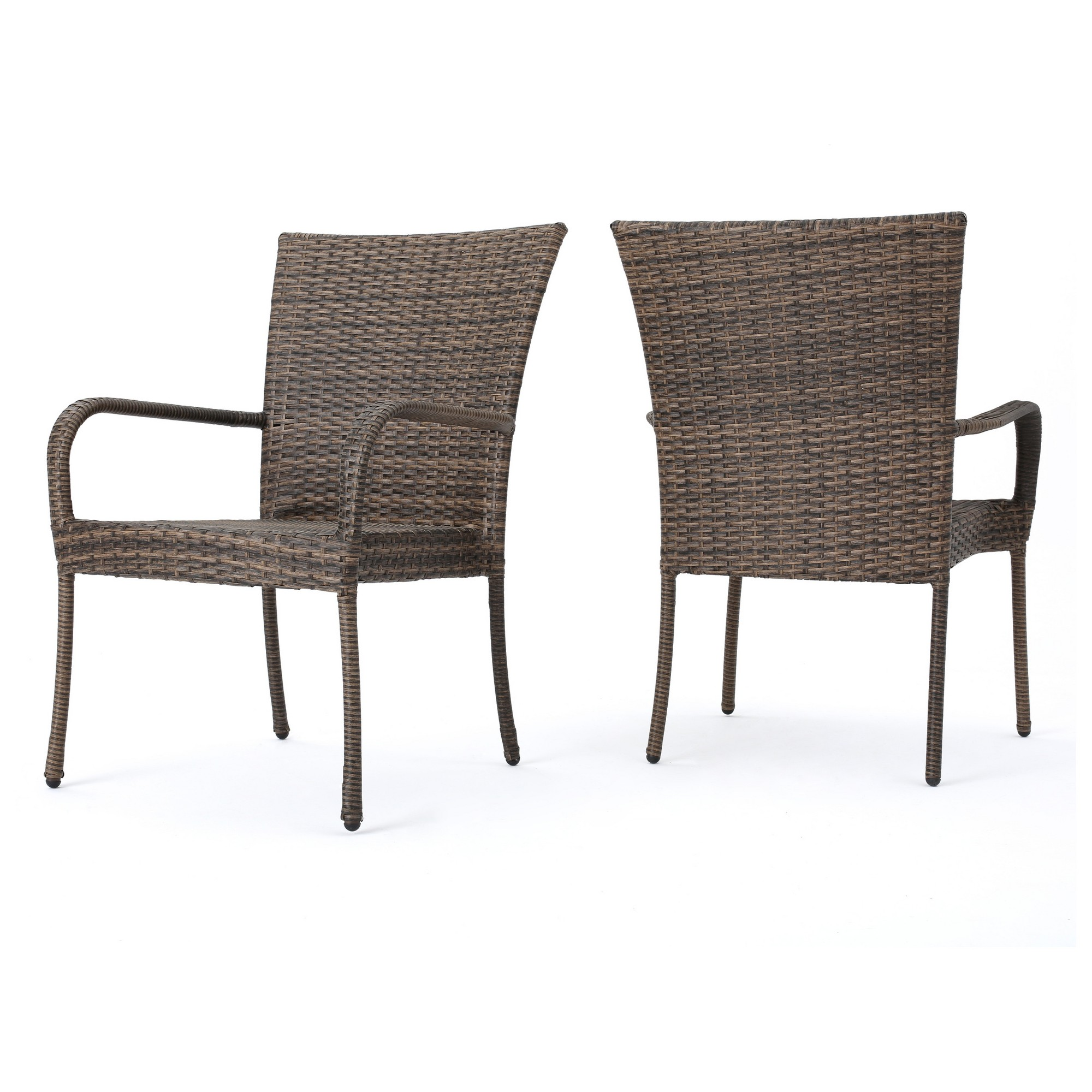 Christopher Knight Home Littleton Set of 2 Wicker Stackable Club ...