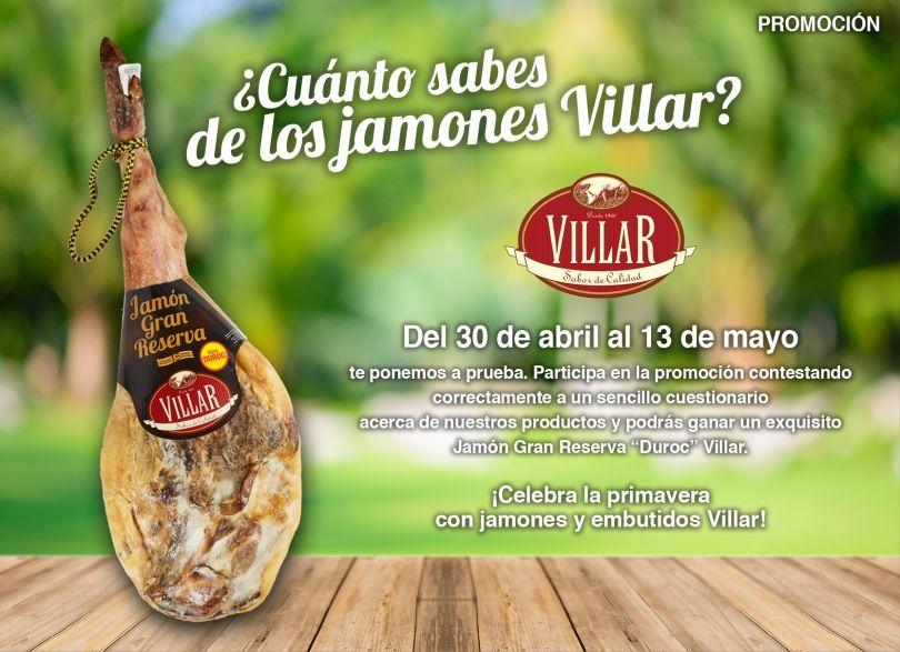 Cuanto Sabes De Los Jamones Villar Sorteo Facebook