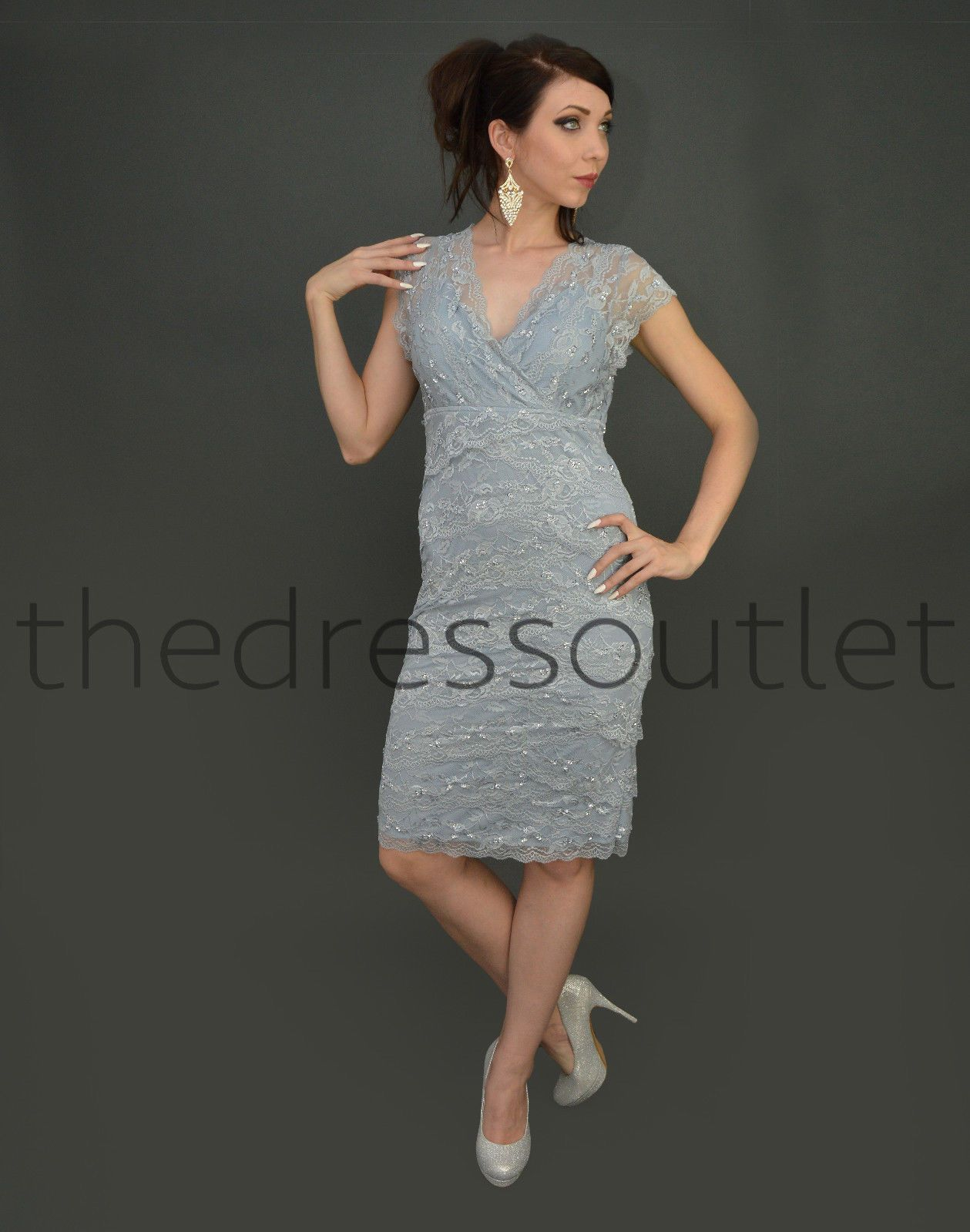 Short Formal Lace Cocktai Dress 2018 | Vintage lace, Outlets and Shorts