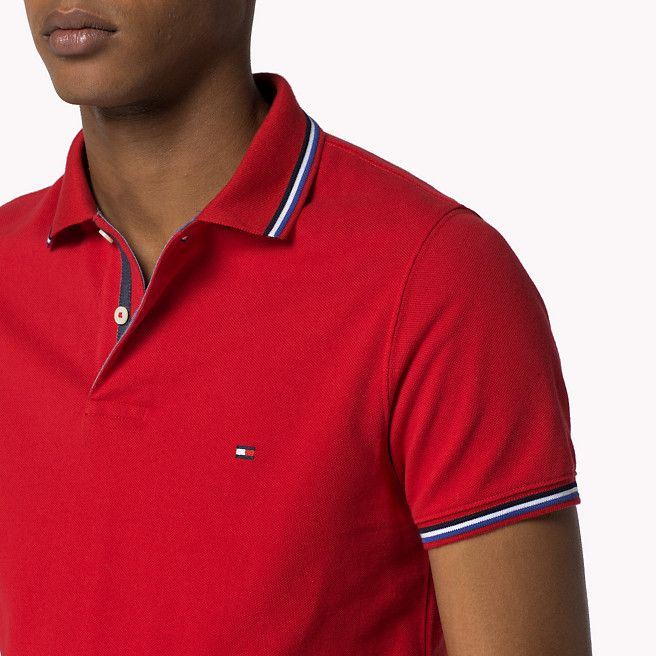 Tommy Tipped Slim Fit Polo Tommy Hilfiger Slim Fit Polo Polo T Shirts