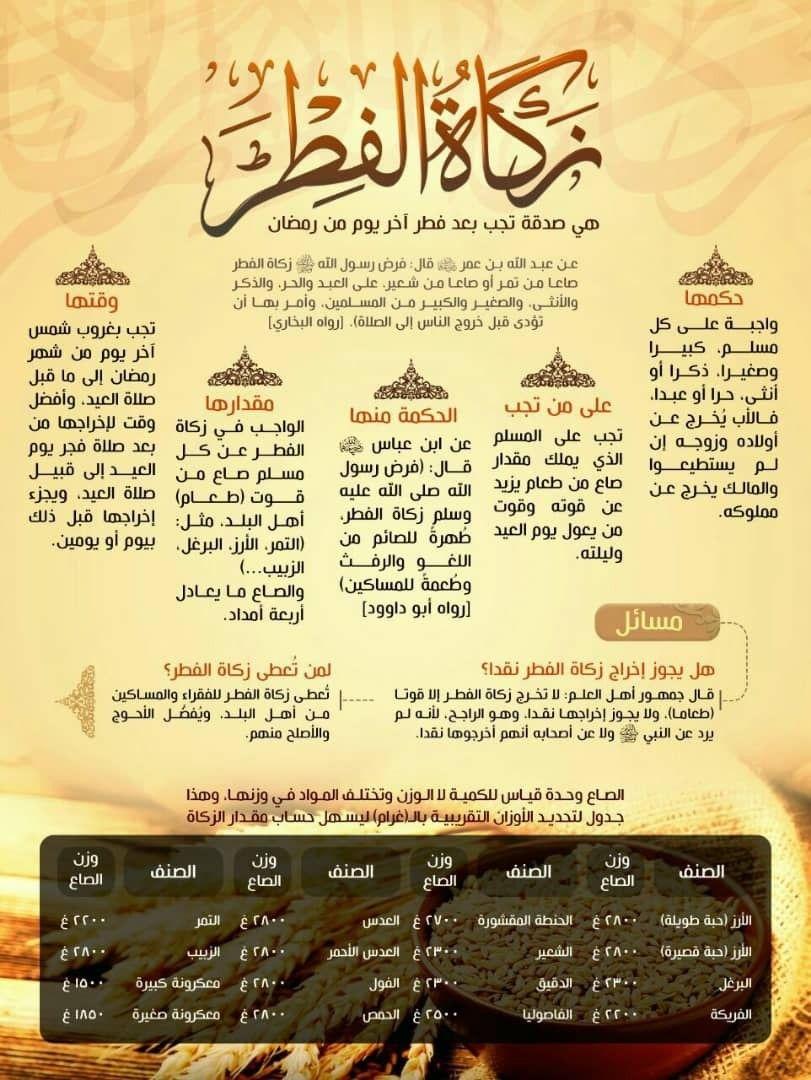 زكاة الفطر Beautiful Arabic Words Words Arabic Words