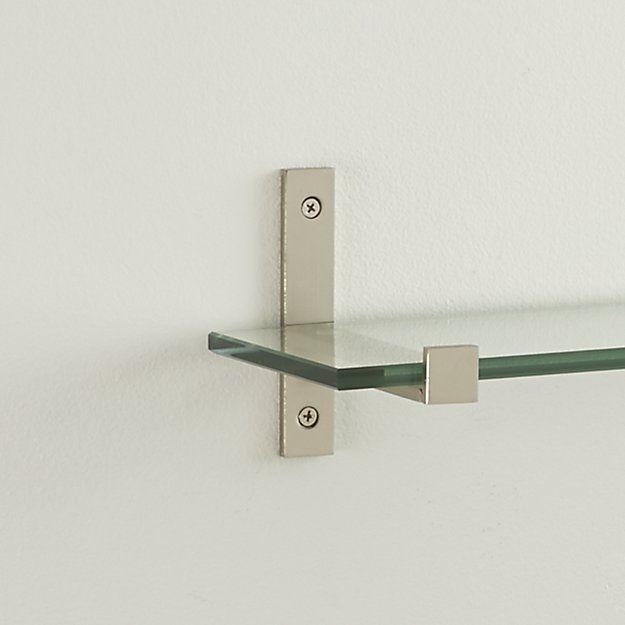 Set Of 2 Styles Brushed Silver Shelf Brackets Crate And Barrel Shelf Brackets Glass Shelves