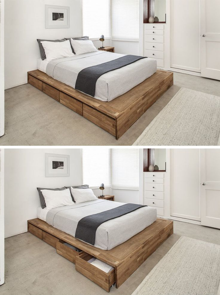 cheap diy bed frame with storage