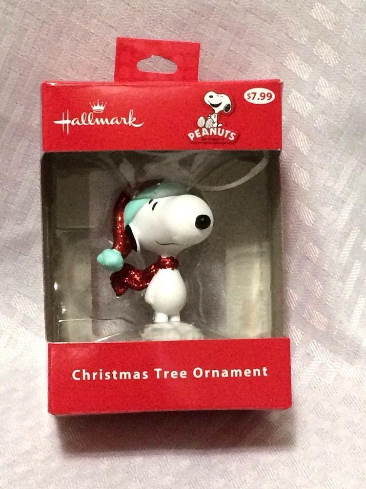 Hallmark Peanuts Red Glitter Hat Scarf Snoopy Ornament Christmas Holiday  Decor #Hallmark - Hallmark SNOOPY PEANUTS Ornament Red Glitter Hat Scarf Christmas