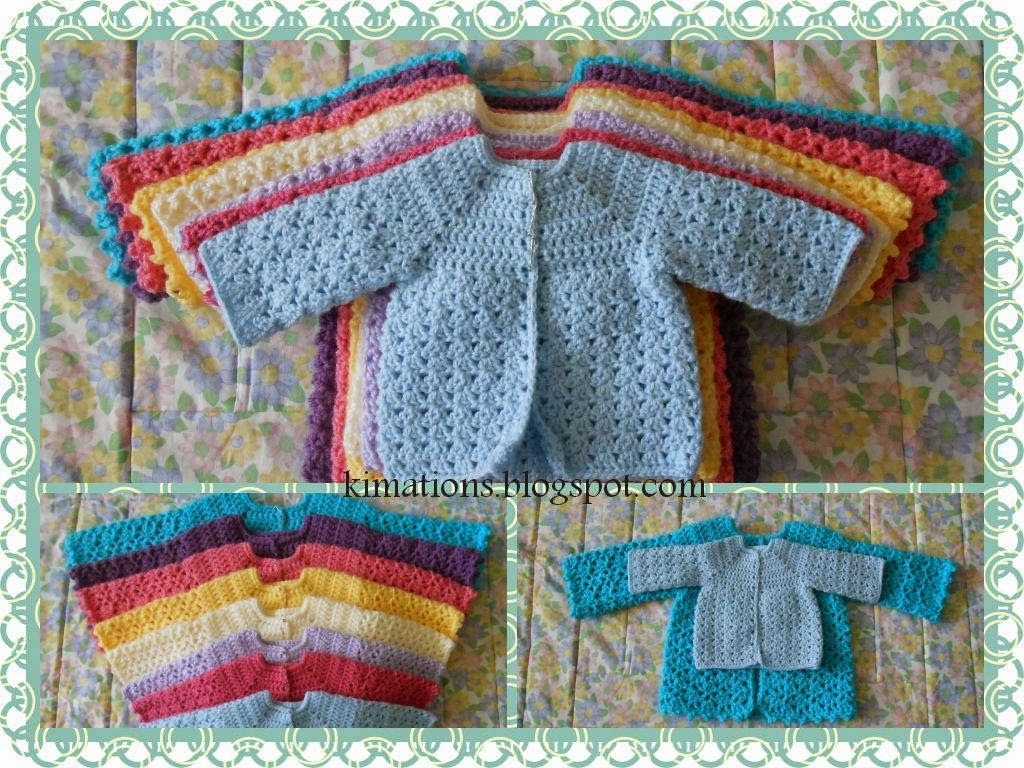 Kimations: Nessa\'s Sweater sizes from Preemie to 12 mos. ~ Long or ...