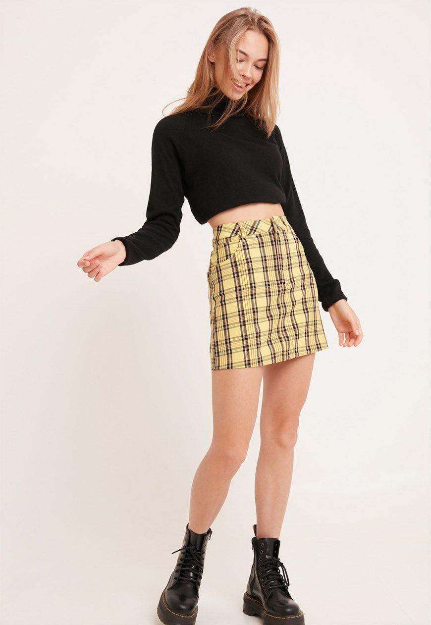 Tartan skirt - yellow | Subdued | ASOS Marketplace | Tartan skirt ...