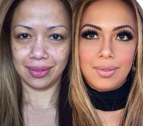 maquillaje extremo antes y despues