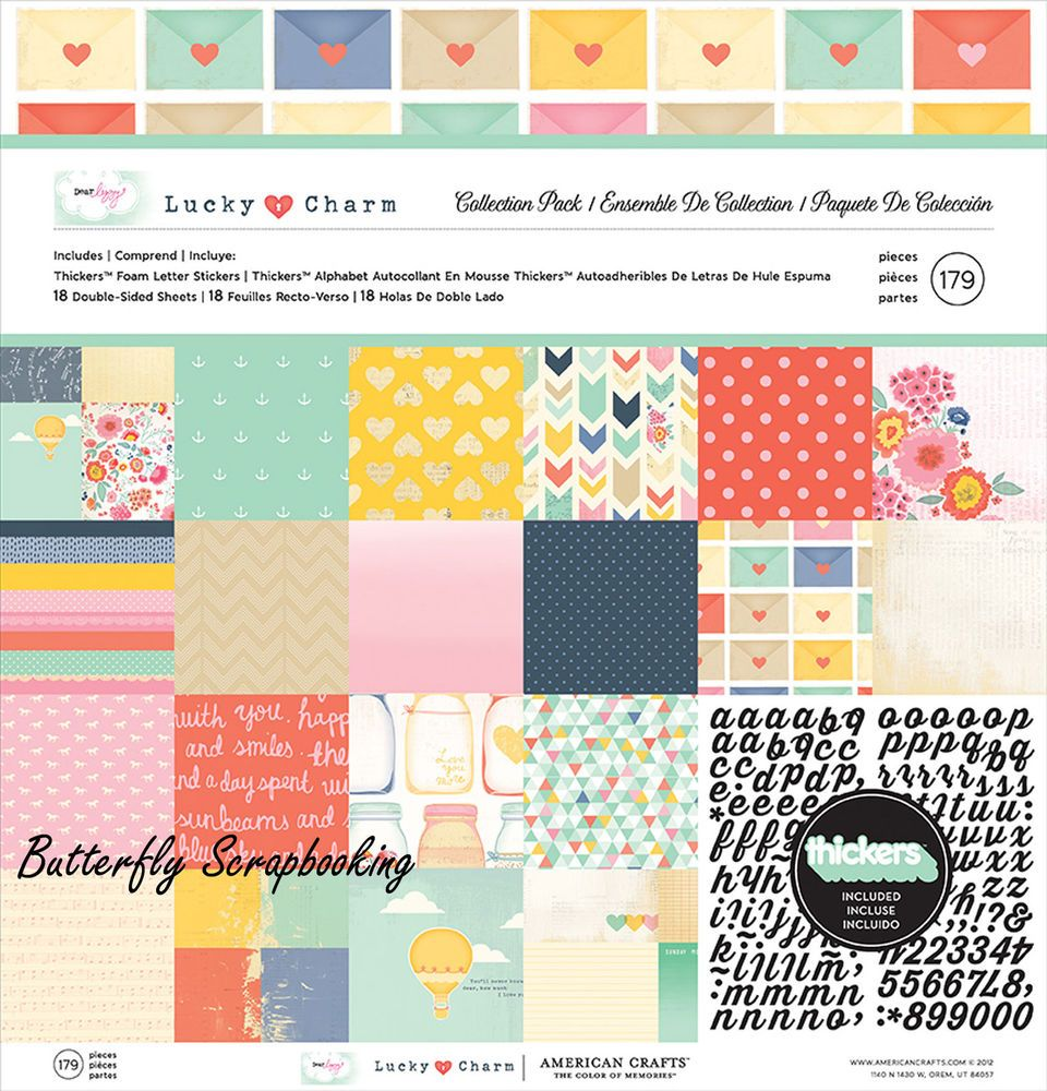 Details about Dear Lizzy Lucky Charm Collection 12X12