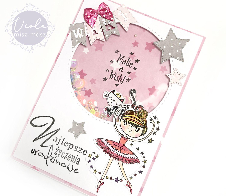 Kartka Urodzinowa Dla Dziewczynki Z Shaker Boxem Kartki