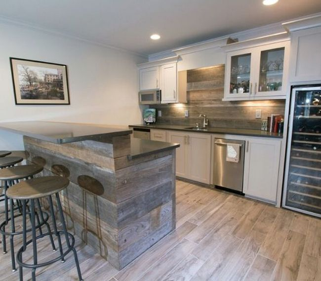 50 Basement Ideas On A Budget Finished Small Basement Kitchen