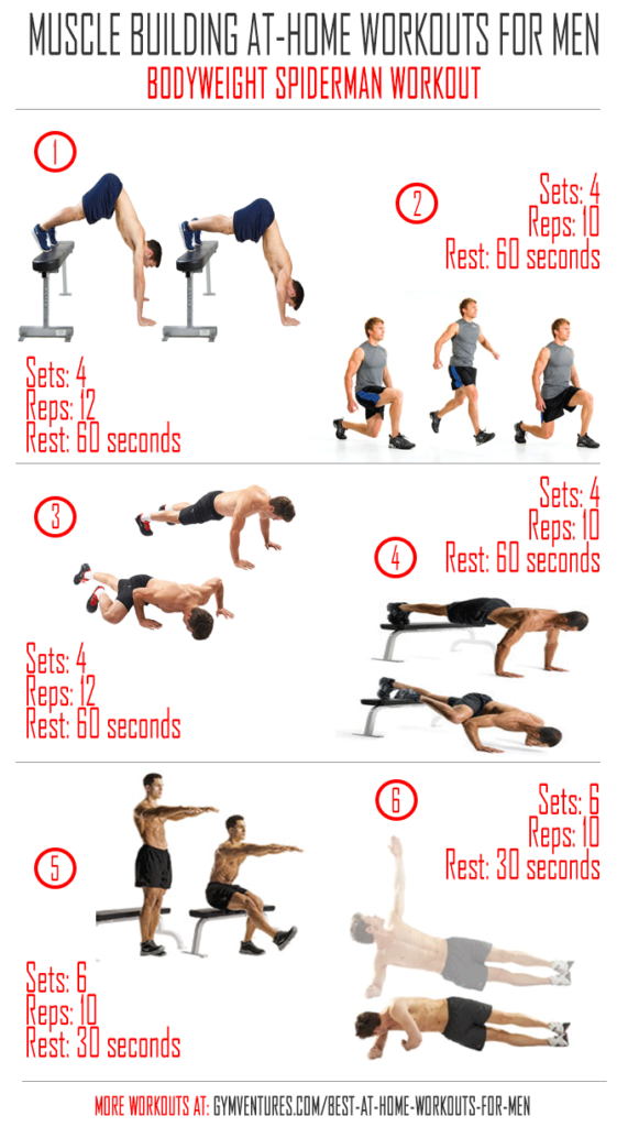 At Home Workouts For Men Bodyweight Spiderman Workout