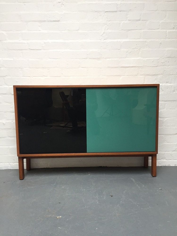 Vintage Mid Century Glass Fronted Sideboard Cabinet Cupboard London