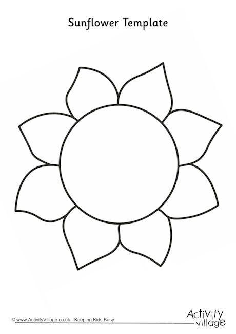 Slonecznik Szablon Szukaj W Google Sunflower Template Flower Templates Printable Sunflower Crafts