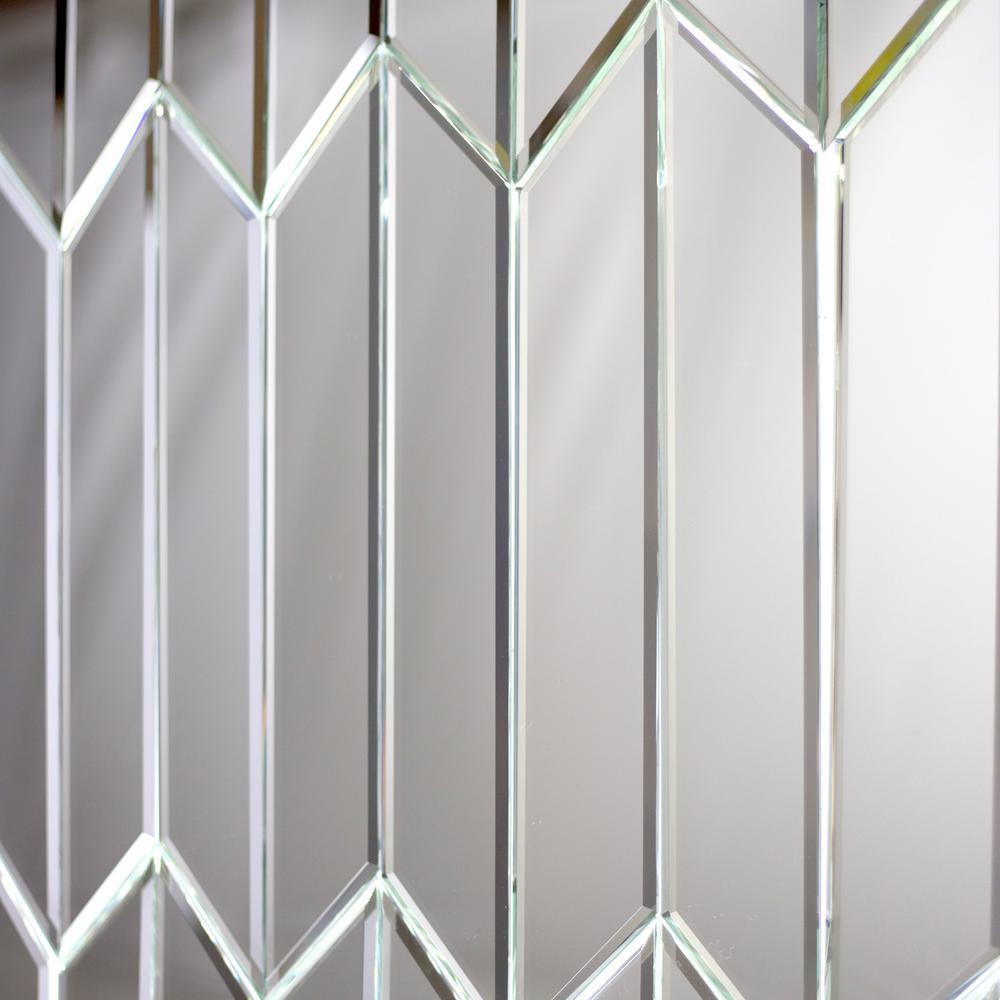 Abolos Reflections Silver Beveled Parallelogram 4 In X 12 In Glass Mirror Wall Tile 16 2 Sq Ft Bx Hmdrefset Si P In 2020 Mirror Wall Tiles Wall Tiles Mirror Tiles
