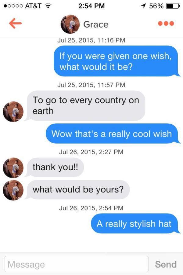 Tinder chat tipps nachricht gelesen
