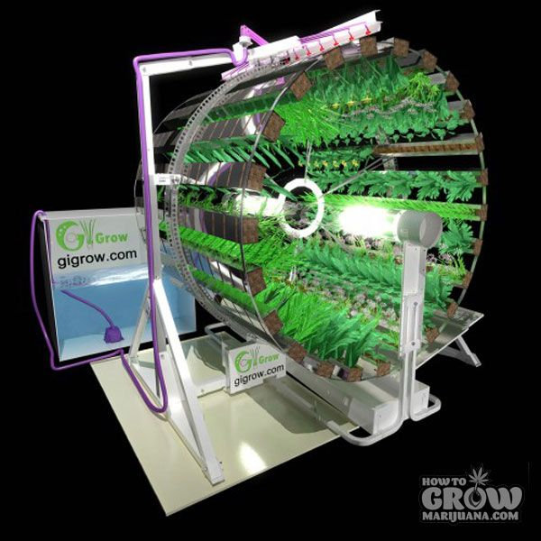 attic grow room ideas - Gi Grow Rotary Hydroponics Marijuana