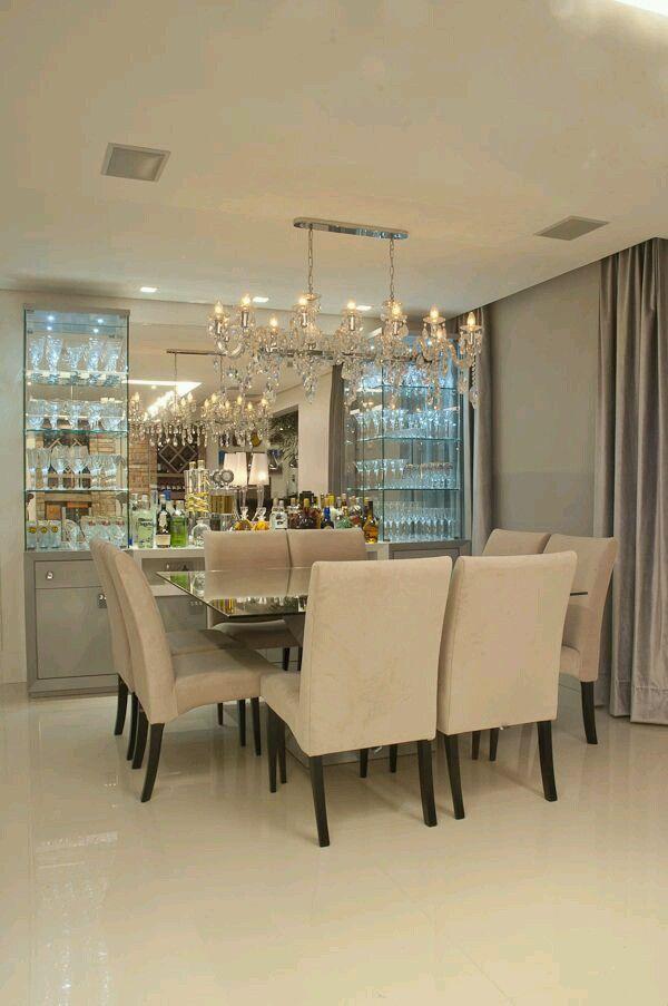 Como decorar comedores modernos | salón con vitrina | Decorando ...