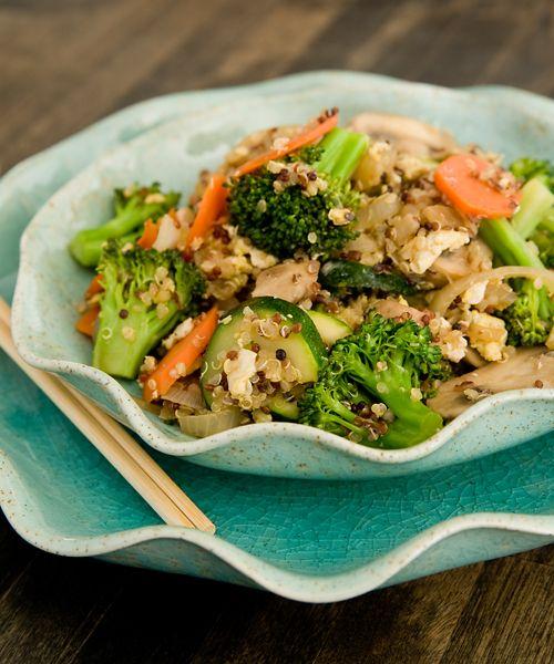 Veggie Stir Fry W Quinoa Onion Carrot Broccoli