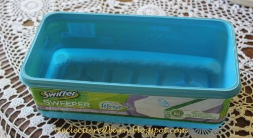 Repurposed Swiffer Containers To Beauty Products Organizer