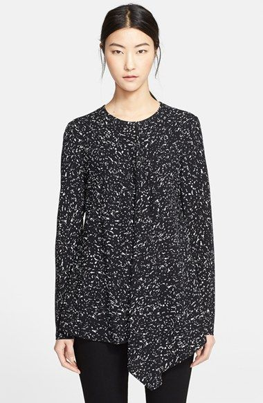 Proenza Schouler Print Front Draped Blouse available at #Nordstrom