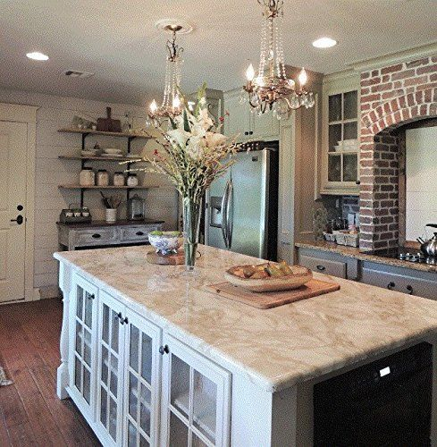 Counter Top Granite Look Marble Cream White Riviera Cover 36 W X 144 L Why Paint Just And Stick