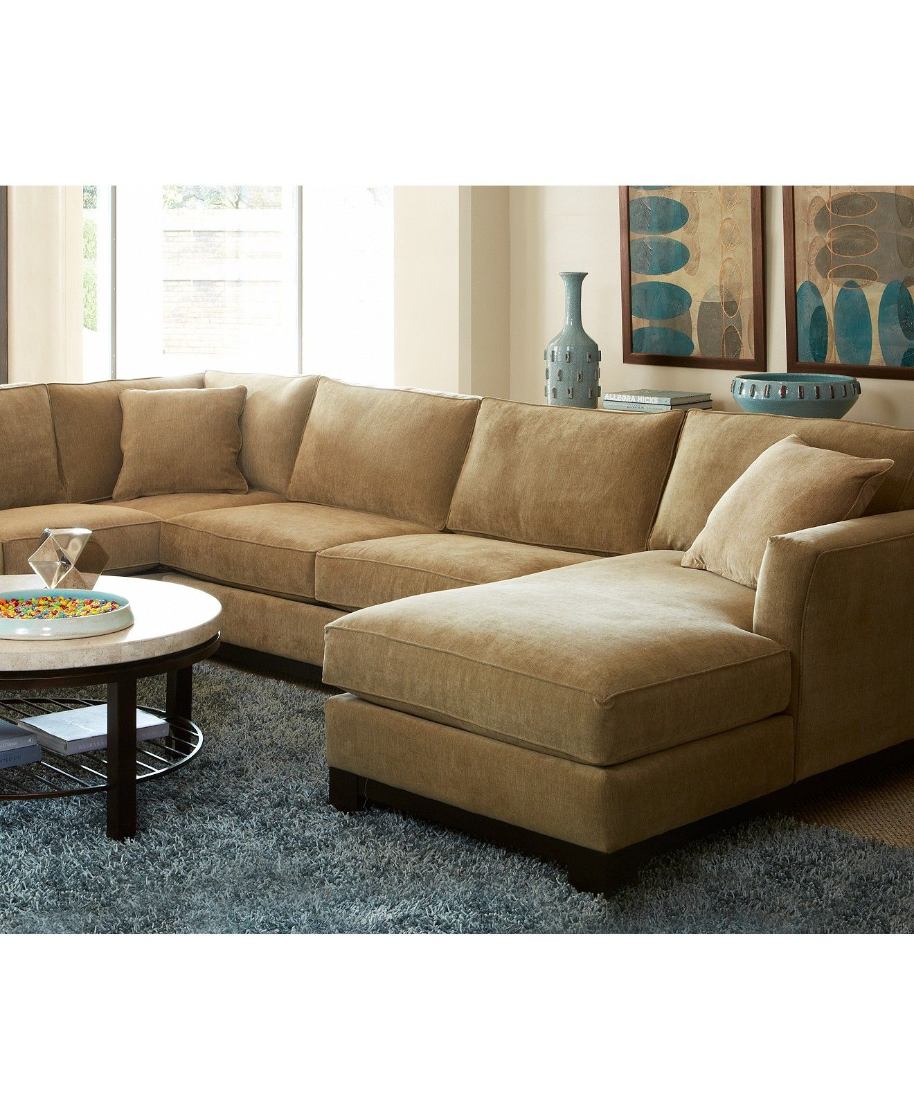 Kenton Fabric 3Piece Chaise Sectional Sofa Shop All Living Room