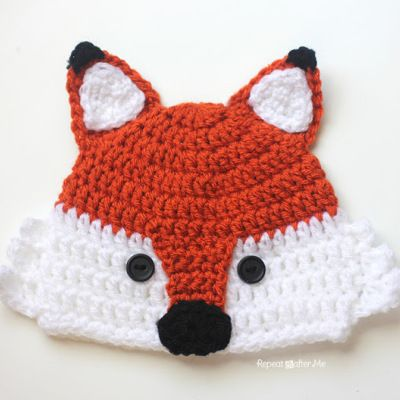 Crochet Fox Hat | Repeat Crafter Me | Crochet Patterns | Pinterest ...