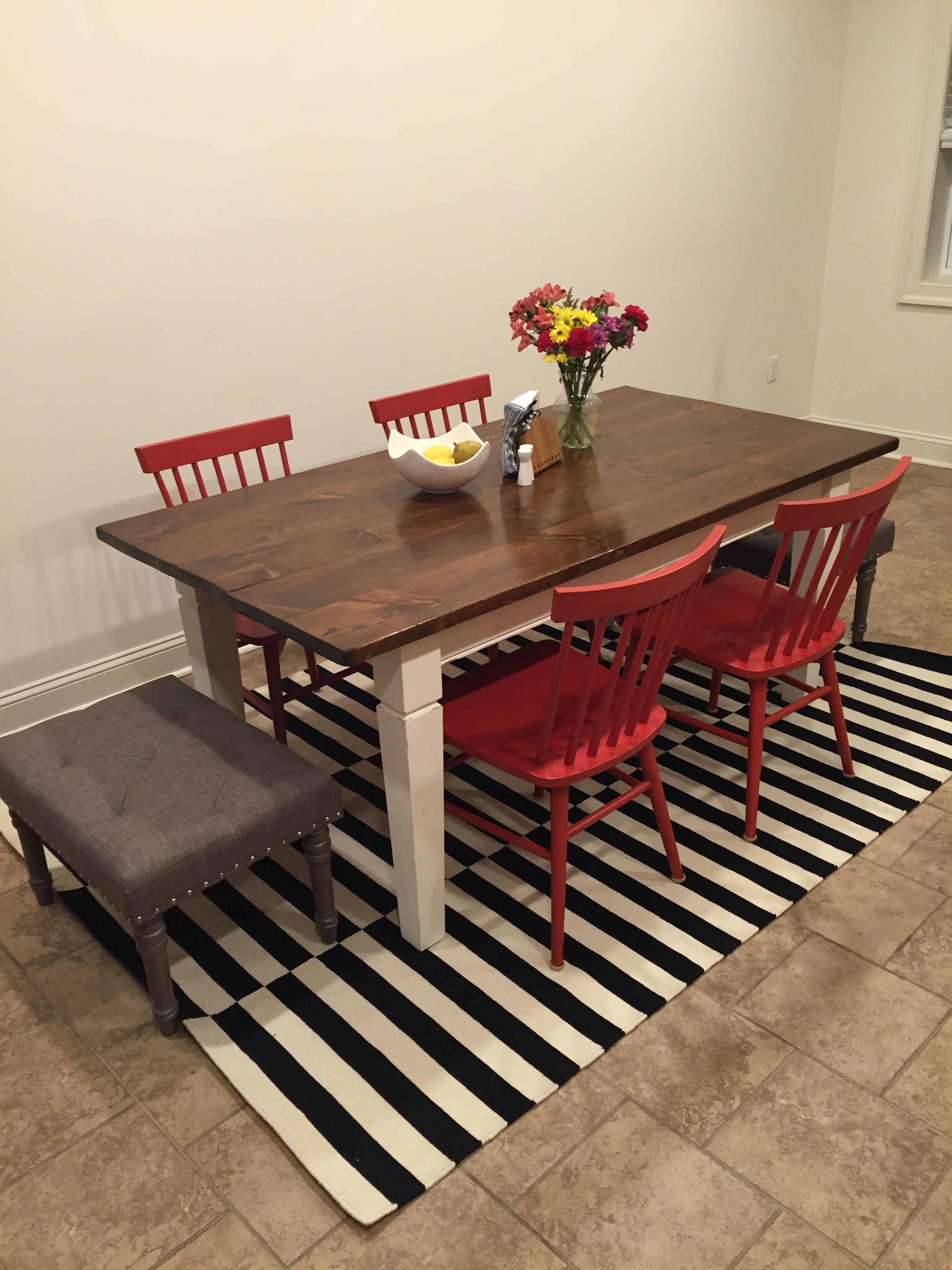 Refinished Solid Wood Table Chairs, Home Goods Chairs Dining Room