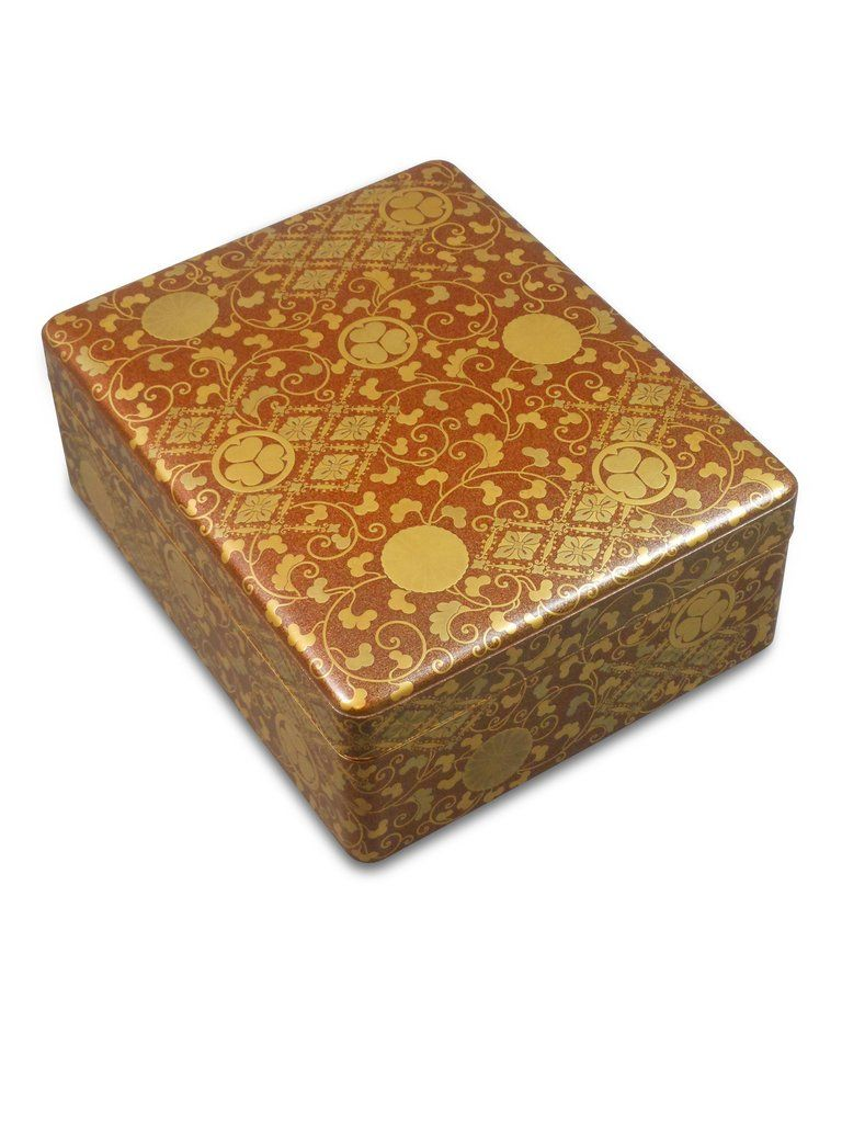 A Large Japanese Gold Lacquer Document Box Document Box Box