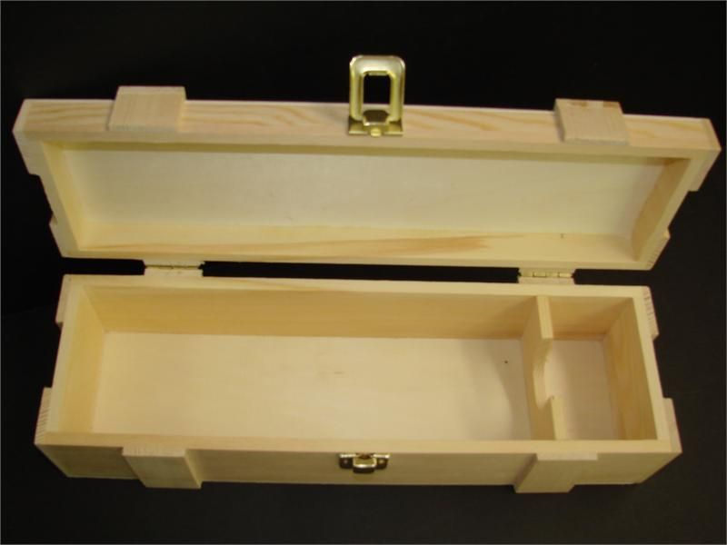 This is an unfinished wine box that is ready to be painted or embellished to match & Wine Box 3.5
