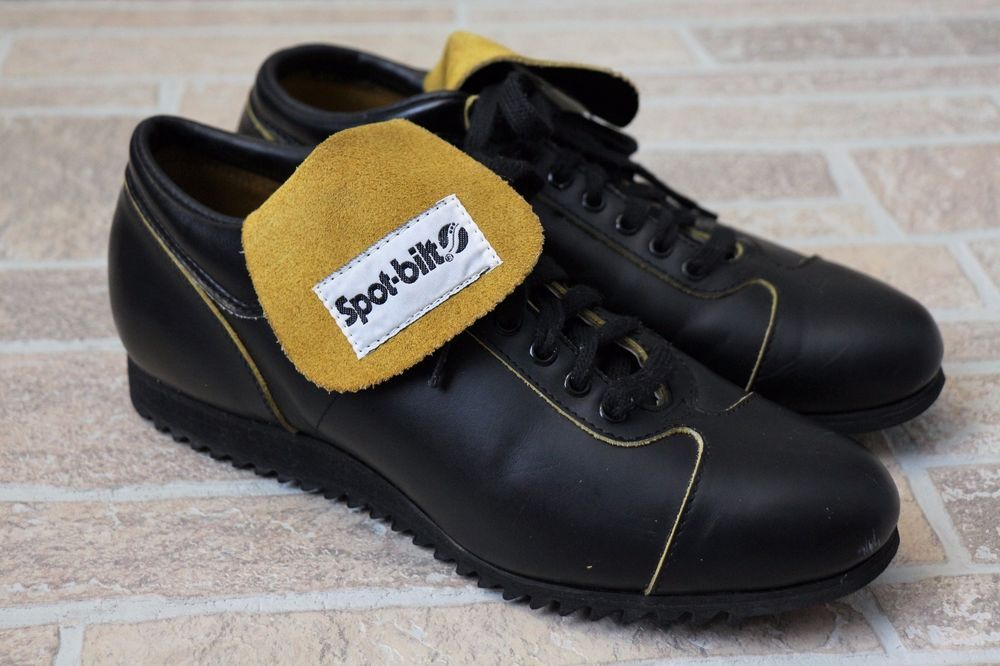 239309020480 Vintage Spot-Bilt Coach Cleats Shoes Black Yellow Tongue CS34 Mens Size  10.5  SpotBilt  Athletic  Sports