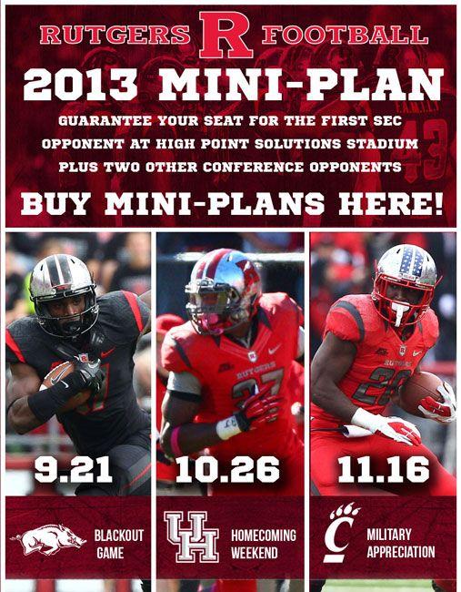 Rutgers Mini Plan Email College Athletics Sports Marketing Athlete